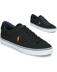 Polo Ralph Lauren Sneakers Sayer - Zwart