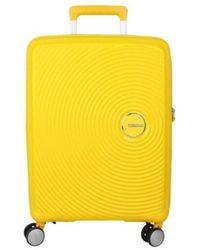 American Tourister Valise Valise rigide 4 roues Soundbox jaune 67 cm - Bleu