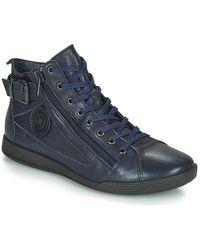 Pataugas - Hoge Sneakers Palme - Lyst