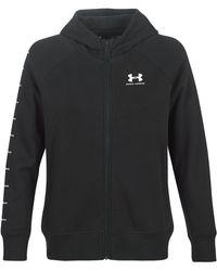 Under Armour Sweater Rival Fleece Sportstyle Lc Sleeve Graphic Fz - Zwart