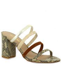 So Send - Nu pieds cuir serpent Sandales - Lyst