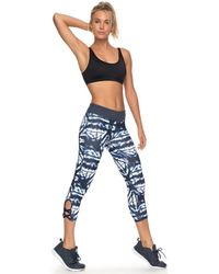 Roxy - Natural Twist - Pantal Women's Tights In Blue - Lyst