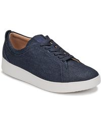 Fitflop Lage Sneakers Rally Denim - Blauw