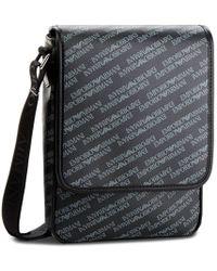 e807473cfed7 Emporio Armani - Crossbody Pvc Logo Messenger Bag Black - Lyst