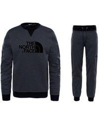 The North Face - Dyz Mc Drew Peak Crew Neck Tracksuit Dark Grey - Lyst