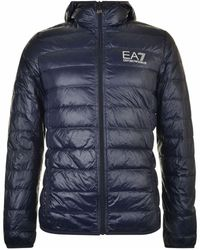 Emporio Armani - 8 Z Down Hooded Jacket Navy Blue - Lyst