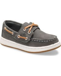 ac8ae4d748f0 Lyst - Sperry Top-Sider Women s Dunefish Leather Boat Shoe in Gray