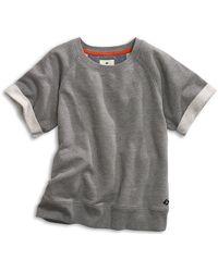 Sperry Top-Sider Women's Short Sleeve Raglan Sweatshirt - Gray