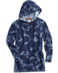 Sperry Top-Sider Women's Tie-dye Hooded Sweatshirt - Blue