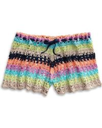 Sperry Top-Sider Women's Crochet Shorts Beach Cover Up - Multicolor