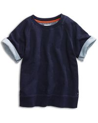 Sperry Top-Sider Women's Short Sleeve Raglan Sweatshirt - Blue