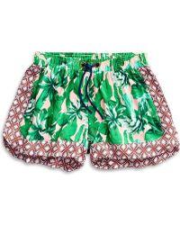 Sperry Top-Sider Women's Tropical Palm Print Beach Short - Green