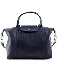 Longchamp - Le Pliage Cuir Handle Bag - Lyst