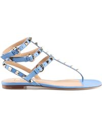c550b0f5c096 Lyst - Valentino Braided Leather Scarab Flat Sandals in Brown