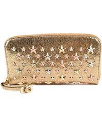 Jimmy Choo - Glitter Leather Stars Wallet - Lyst
