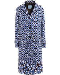 Prada - Technical Jersey Coat - Lyst