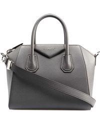 db55dc8d2fd Givenchy Antigona Medium Croc Embossed Leather Satchel in Black - Lyst