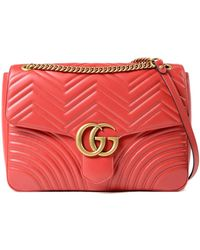 e1ba59bce Gucci GG Marmont Wallet On Chain in Pink - Lyst