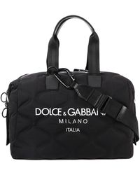 Dolce & Gabbana Printed Scuba Briefcase - Black
