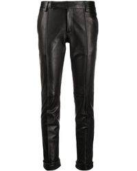 Golden Goose Deluxe Brand Slim-fit Leather Trousers - Black