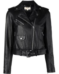 Michael Kors - Classic Leather Moto Jacket - Lyst