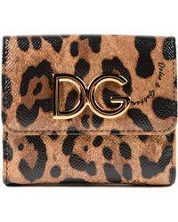 Dolce & Gabbana - Dauphine Leo French Flap Wallet - Lyst