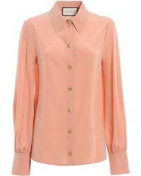 Gucci Buttoned Shirt - Pink