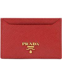 Prada - Cc Case Saffiano Metal Oro - Lyst