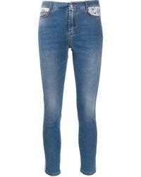 Ermanno Scervino Lace Detailed Jeans - Blue