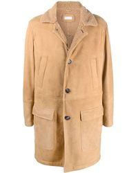 Brunello Cucinelli Single-breasted Midi Coat - Natural