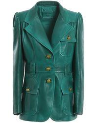 Prada Leather Jacket - Green