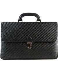 Ermenegildo Zegna - Pelle Tessuta Woven Leather Briefcase - Lyst