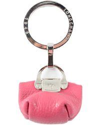 Longchamp Le Foulonne Key Ring - Pink