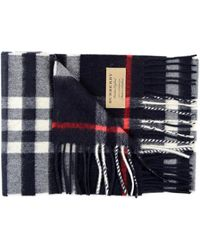 Burberry Exploded Check Cash Scarf 127x20 - Blue