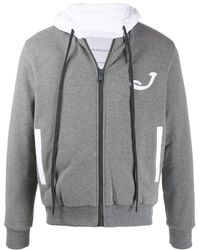 Jacob Cohen Embroidered Hoodie - Gray