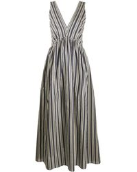 Brunello Cucinelli Striped Maxi Dress - Blue