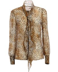 Saint Laurent | Blouse Leopard | Lyst