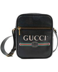 23114f75bdf Gucci Rubber Ssima Messenger in Black for Men - Lyst