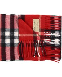 Burberry Exploded Check Cash Scarf 127x20 - Red