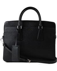 Prada Briefcase Saffiano Cuir - Black