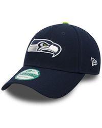 KTZ Casquette NFL Seattle SeaHawks the league Ajustable 9FORTY Bleu marine