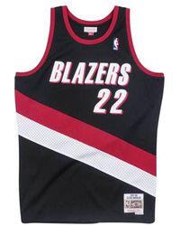 Mitchell & Ness Maillot NBA swingman Clyde Drexler Portland Trail Blazers 1983-84 Hardwood Classics noir - Multicolore