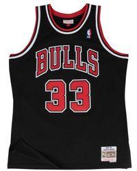 Mitchell & Ness Maillot NBA swingman Scottie Pippen Chicago Bulls Hardwood Classics Noir