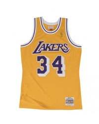 Mitchell & Ness Maillot NBA Shaquille O'Neal Los Angeles Lakers 1996-97 Hardwood Classics jaune - Multicolore