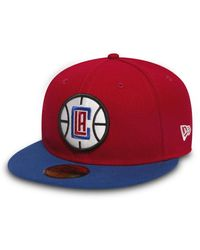 KTZ Casquette NBA Los Angeles Clippers 2 tone Team 59fifty rouge
