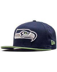 KTZ Casquette NFL Seattle Seahawks Team Snapback 9fifty Navy - Bleu