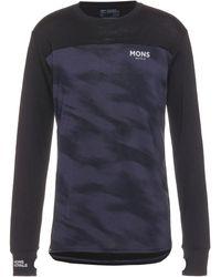 Mons Royale Yotei LS Layerlangarmshirt - Schwarz