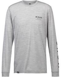 Mons Royale Icon Funktionsshirt - Grau
