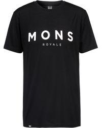 Mons Royale Icon Funktionsshirt - Schwarz