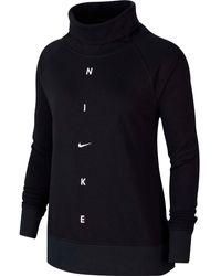 Nike Get Fit Funktionssweatshirt - Schwarz